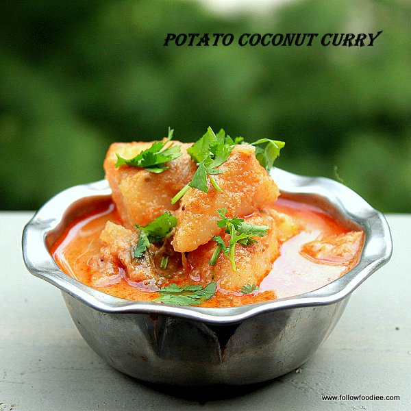 Potato Coconut Curry Recipe or Potato Kulambu recipe