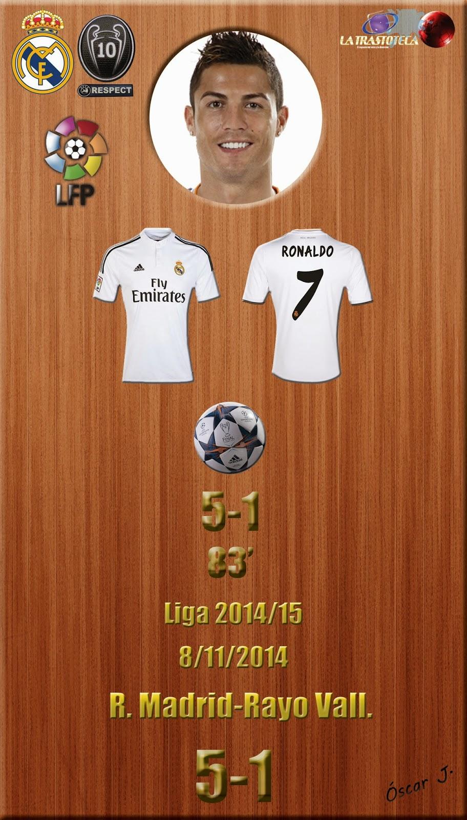 Cristiano Ronaldo - (5-1) - Real Madrid 5-1 Rayo - Liga 2014/15 - Jornada 11 - (8/11/2014)