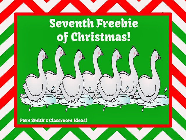 Fern Smith's Freebie Number Seven of the Twelve Days of Christmas!