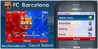 barcelona nokia c3 theme by zayedbaloch Download Tema Nokia C3 Gratis