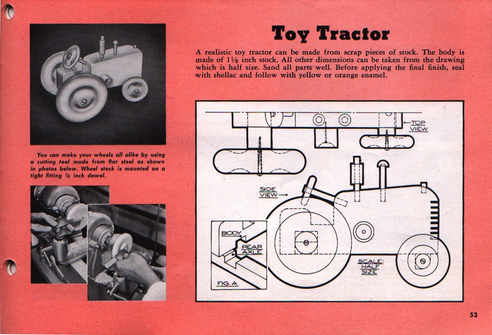 Toy Wooden Tractor Patterns