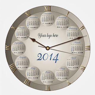 Circular Format Beautiful Wall clock shaped Printable Calendar Amazing Design