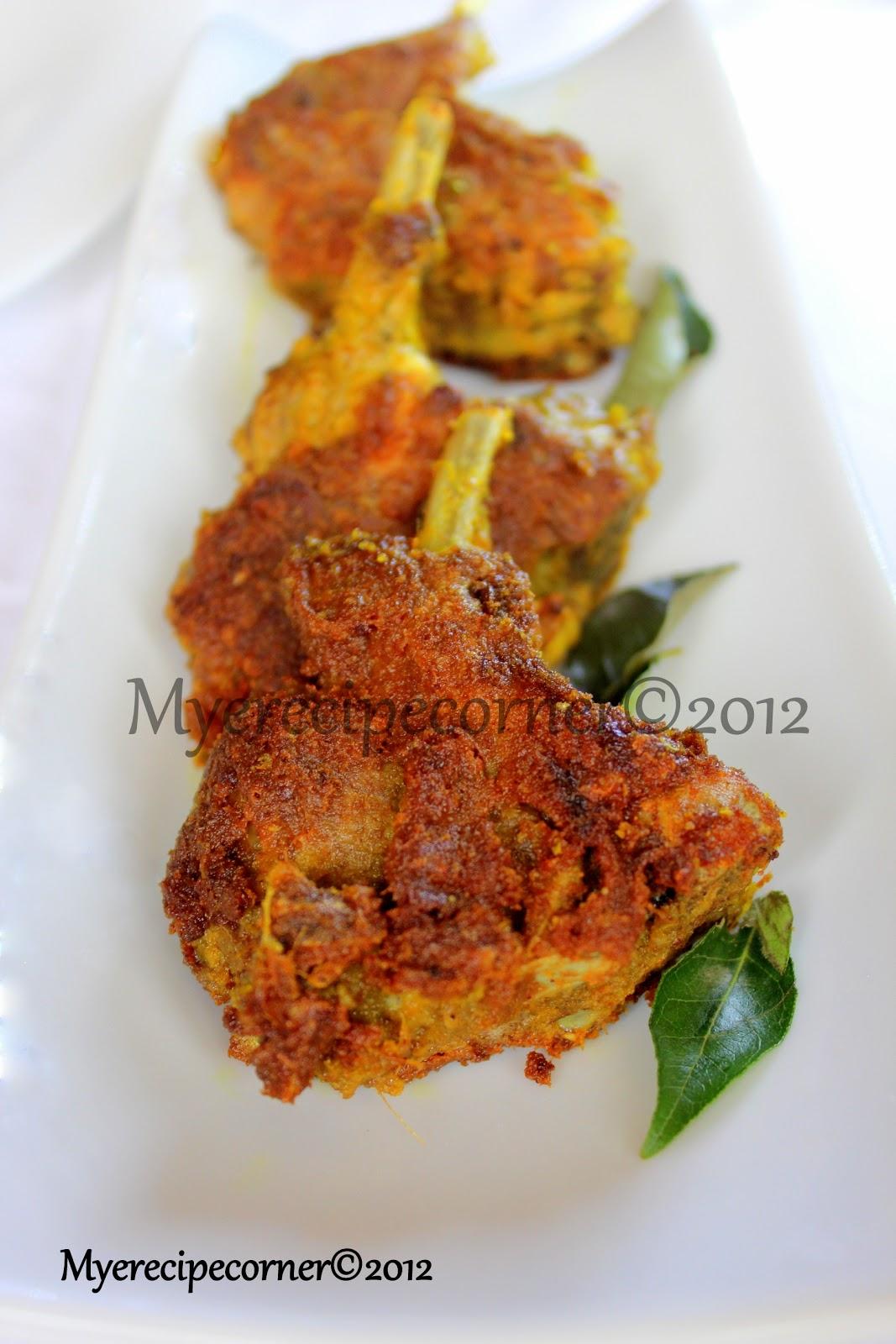 mye s kitchen varutha mutton chops fried spicy lamb chops recipe