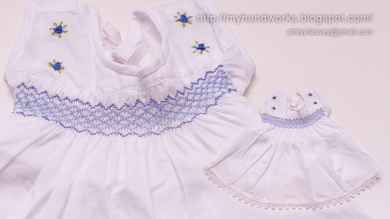 Brazilian embroidery by athiya fassey smocking baby frock