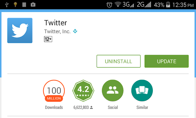 Android Example: How to Open and Install Google PlayStore Apps Programmatically: Twitter App