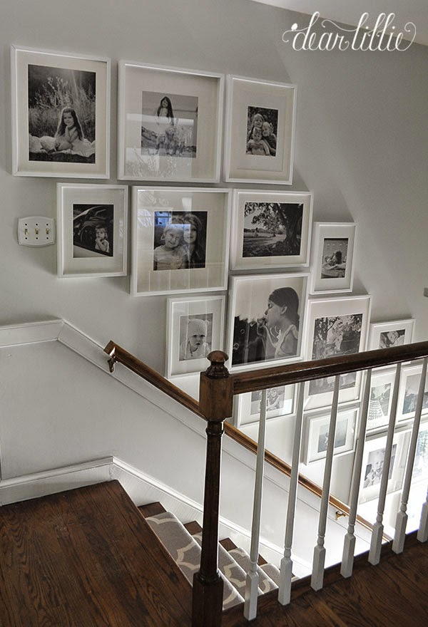Dear Lillie Finally A Gallery Wall For Our Stairway
