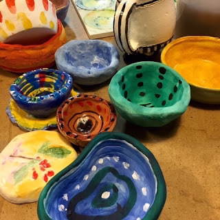 finished bowls for the 'Empty Bowls Project'