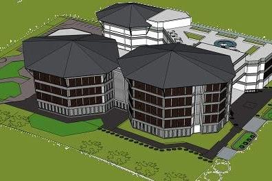Jasa Desain 3D Gedung Mall Bangunan Luas Elit dan Mewah