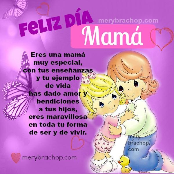 frases lindas de la madre, imagen  cristiana feliz dia de Madre, palabras bellas para mamá, postal mami
