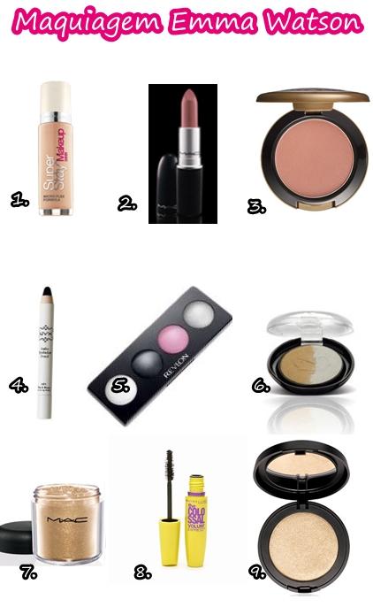 base blush sombra dourada maquiagem emma watson