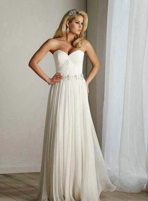 Cheap Chiffon Wedding Dresses with Beading Photos Concepts Ideas