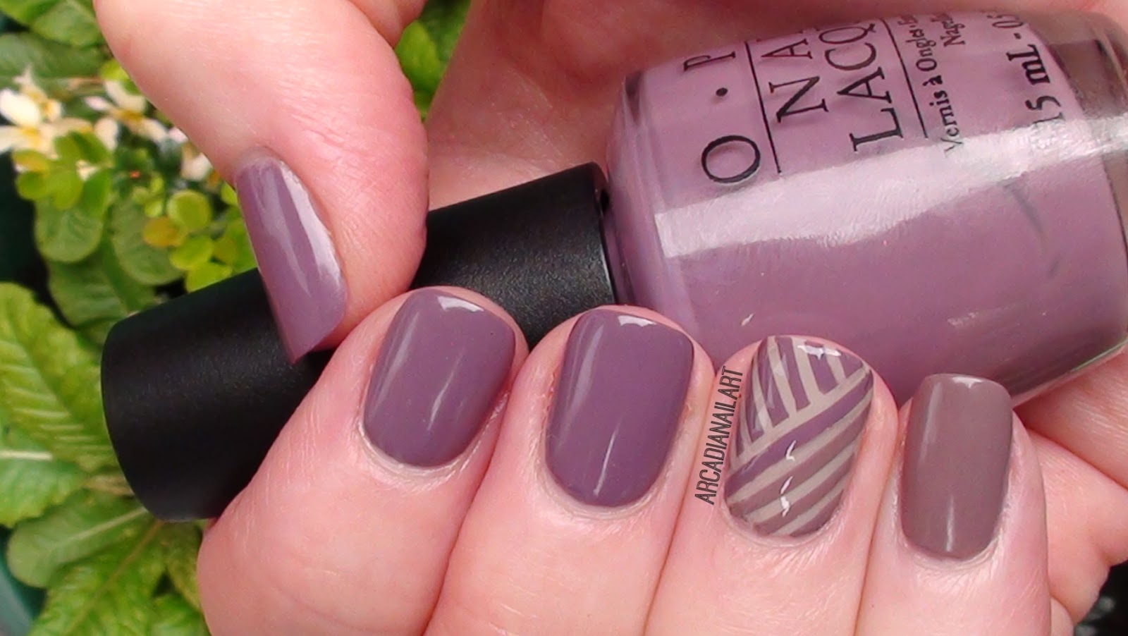 Chic Office Friendly Striping Tape Nails