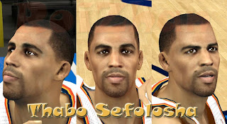 NBA 2K13 Thabo Sefolosha Cyber Face PC Mods