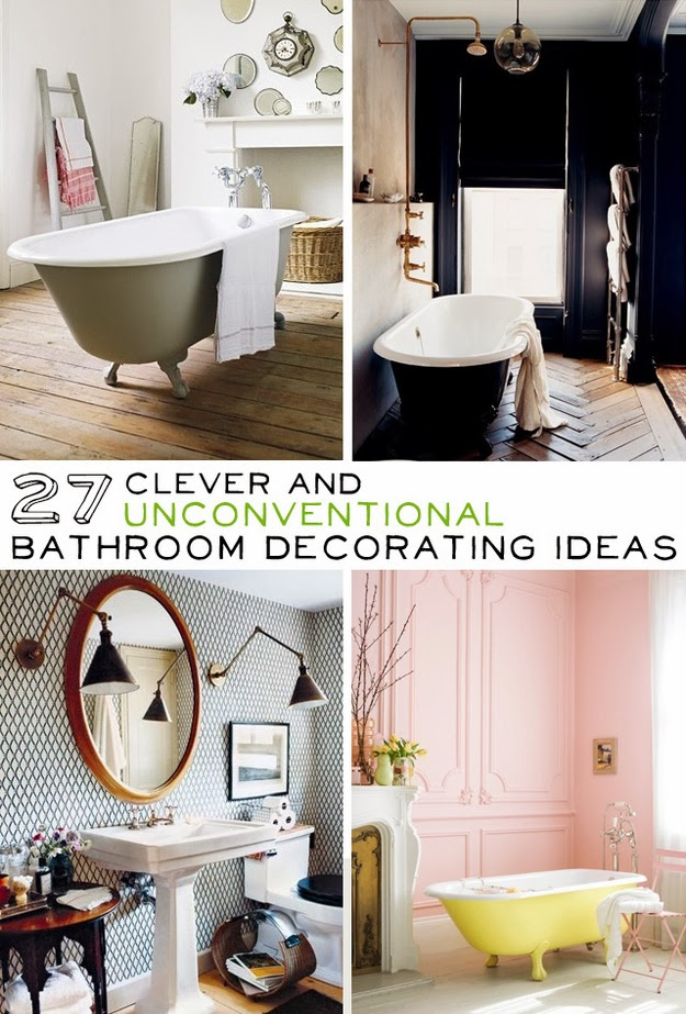 27 clever and unconventional bathroom decorating ideas for Diy bathroom decor ideas