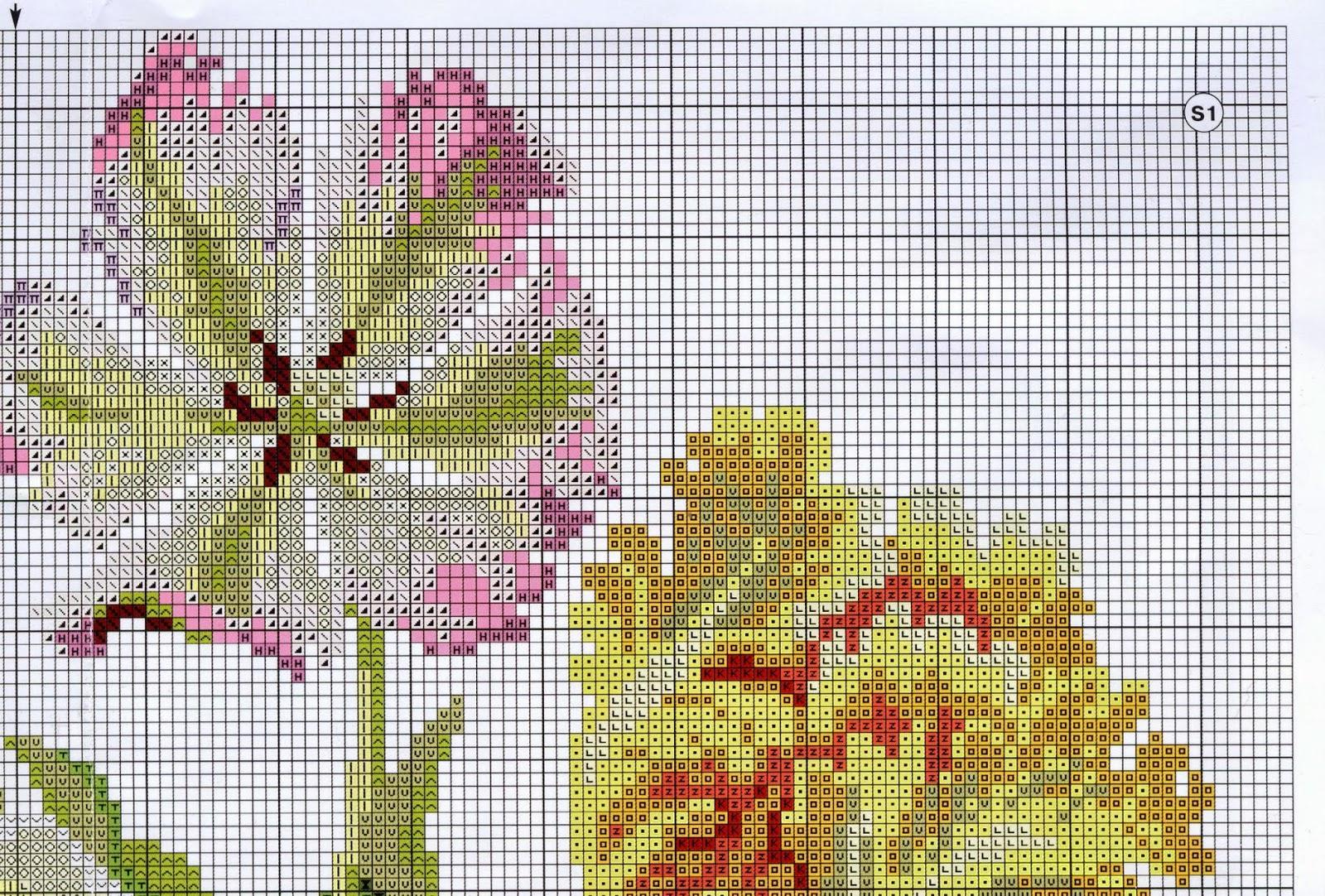 Вышивка тюльпан от риолис 100
