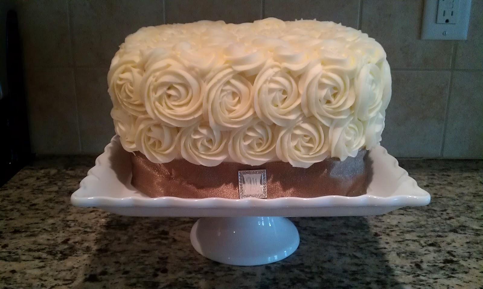 Cake Geniuses Rose Swirl Wedding Cake