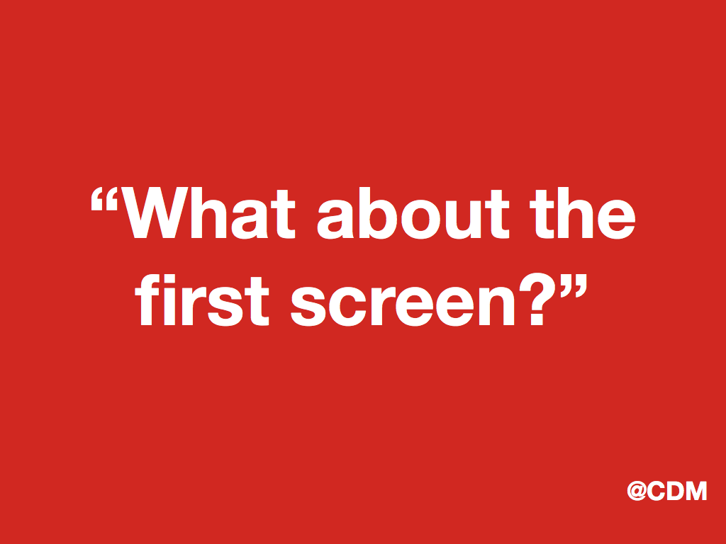 """Jumping To Conclusions Quotes Second Screen What About The """"first Screen""""  Carlodemarchis"""