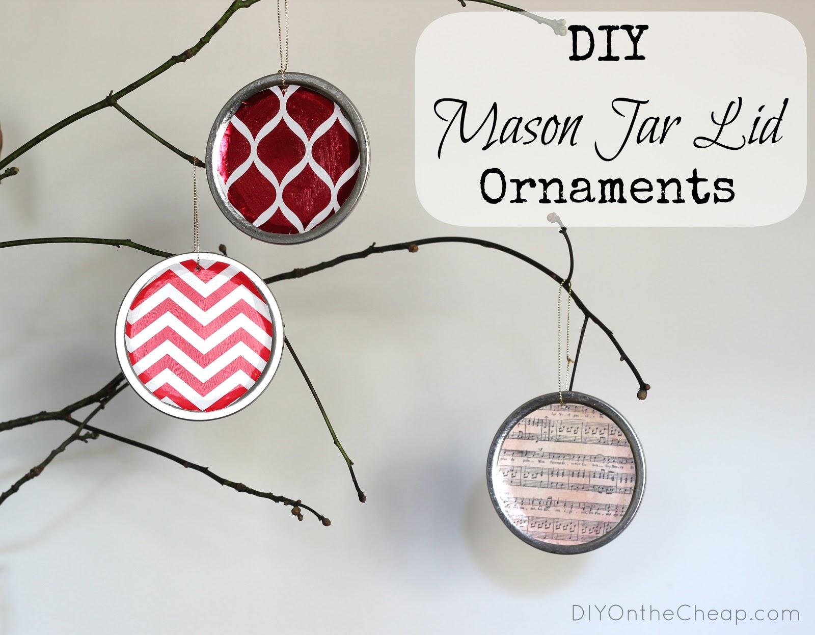 Mason jar ornaments - Diy Mason Jar Lid Ornaments Erin Spain