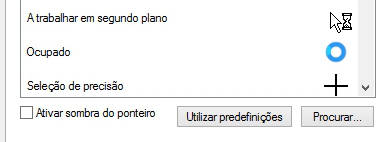 como mudar o cursor do rato windows 7
