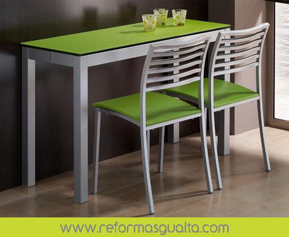 Mesa de cocina Click de 45 cms extensible a lo ancho ~ Reformas Guaita