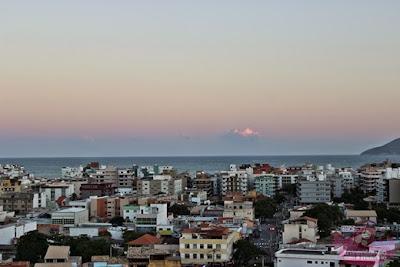 Praia do Forte vista do Mirrante do Morro da Guia em Cabo Frio
