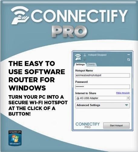 Connectify Hotspot PRO 7.1.29279 full key+crack,Tạo và chia sẻ mạng Wifi với các thiết bị