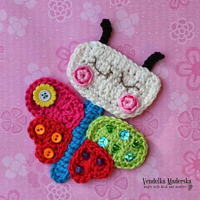 Crochet butterfly hat pattern
