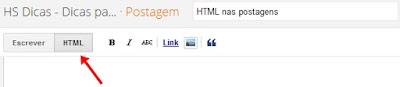 HTML da postagem