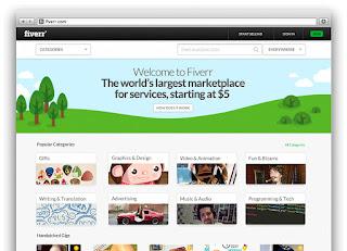 Desain Mudah Dapat $20/hari dari Fiverr.com