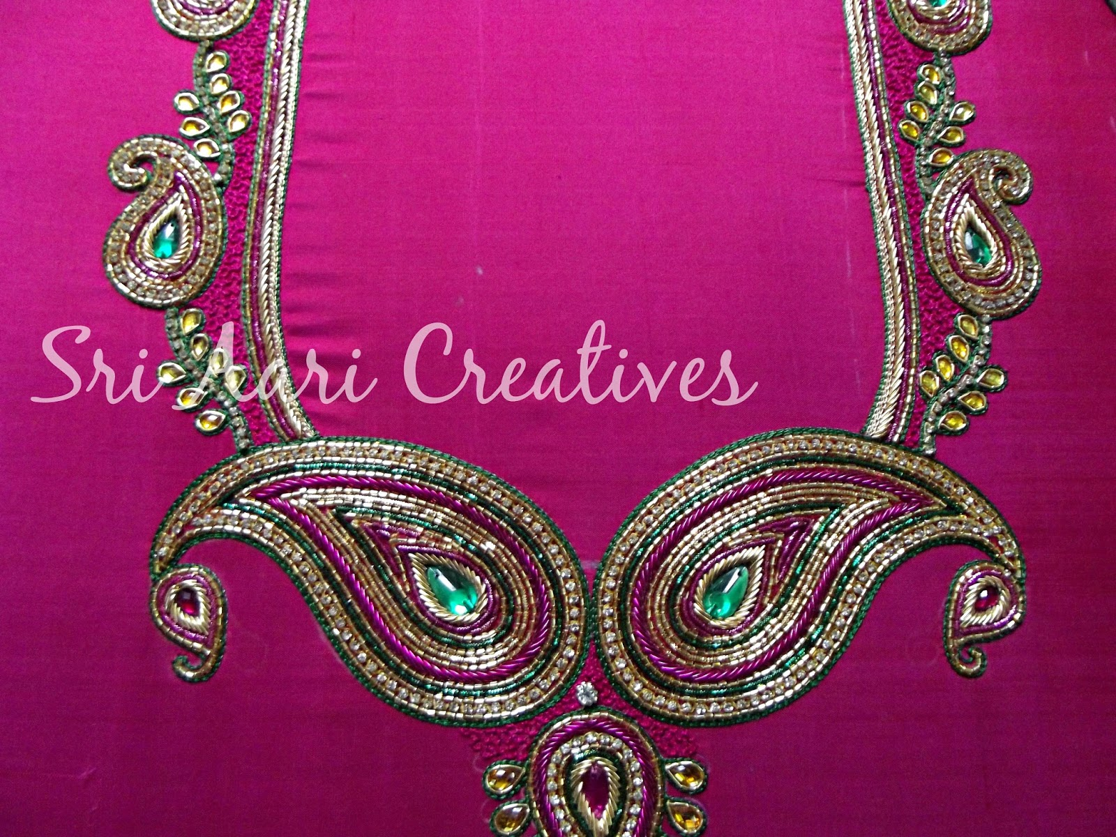 SRI AARI CREATIVES Latest Aari Embroidery Designer Blouses