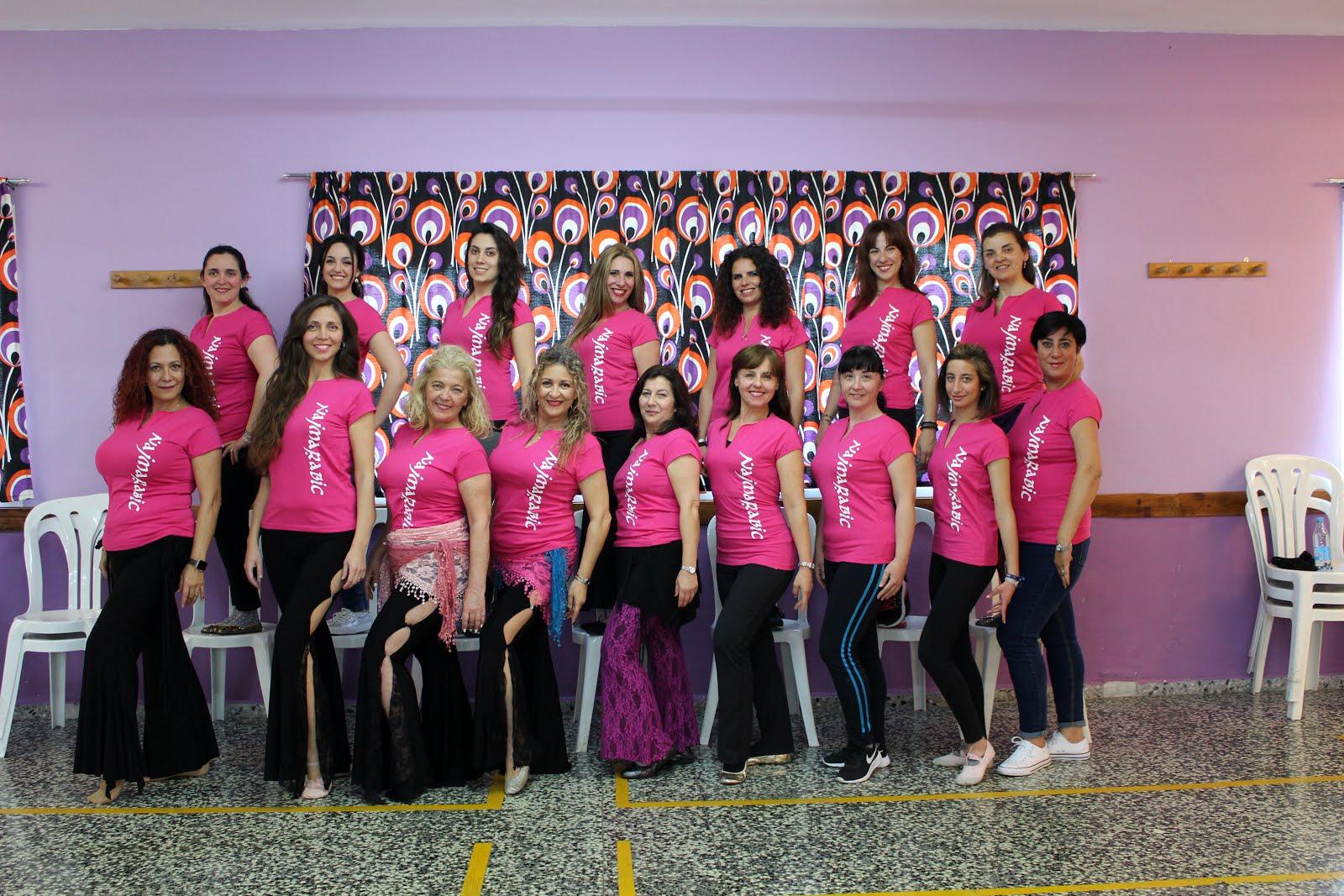 Najmarabic con sus coreógrafas Ania Gallardo y Rosa Beigbeder 2019