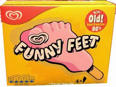 Funny Feet ice cream lolly box