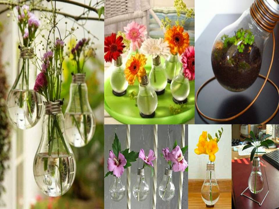Home decor from waste materials crafts for Creative ideas from waste