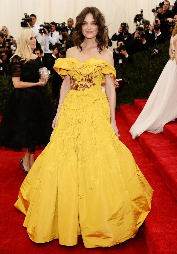 Katie Holmes, Met Gala 2014 Red Carpet