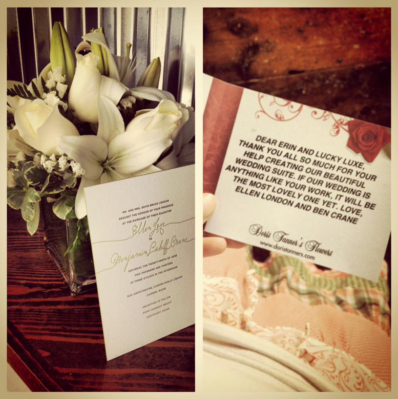 And she used a local florist which makes me love her even more. I can't believe my job sometimes.
