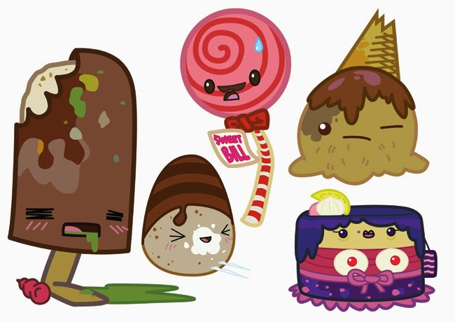 sweets from the slums kawaii illustration