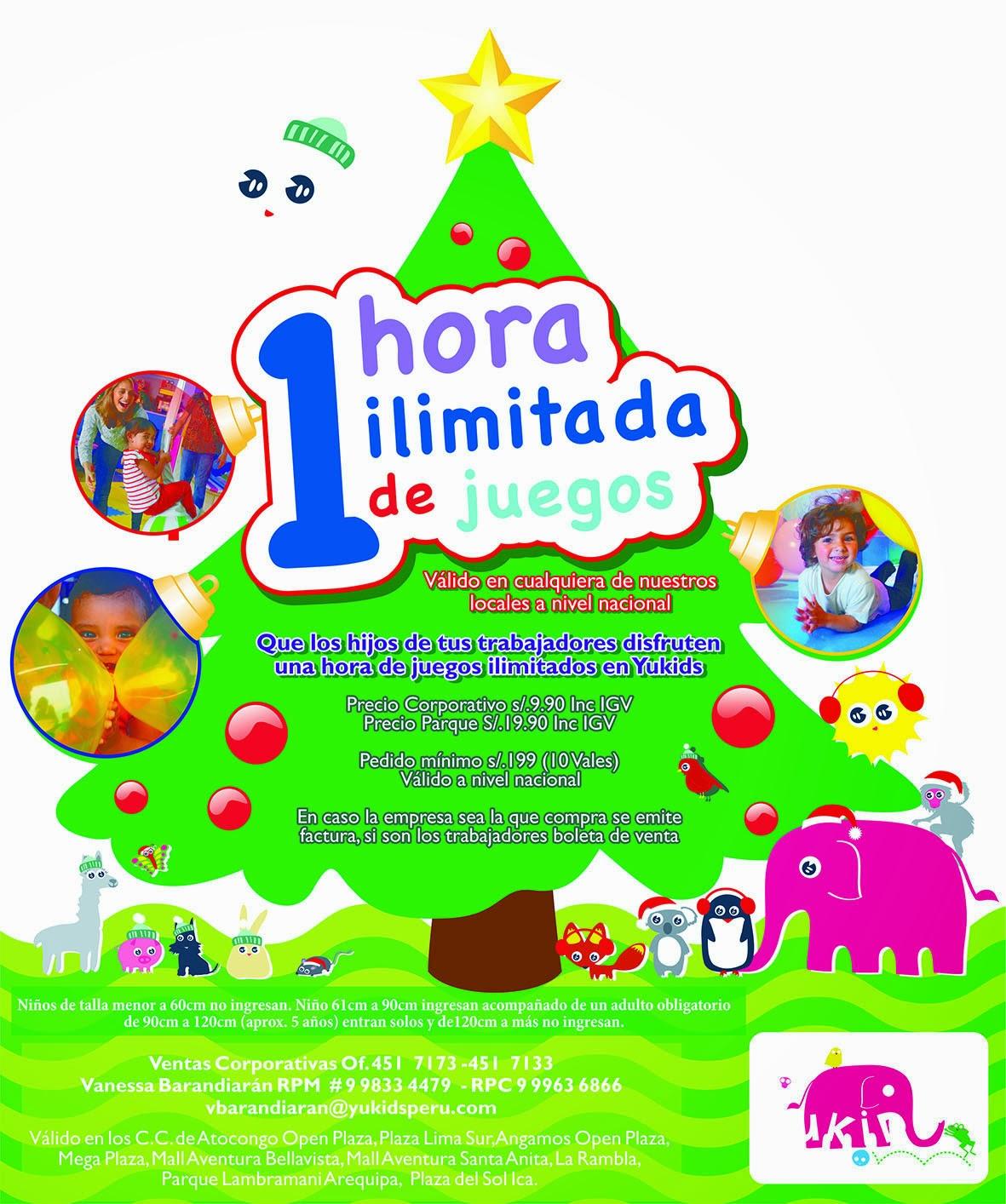 YUKIDS - 1 HORA ILIMITADA DE JUEGOS