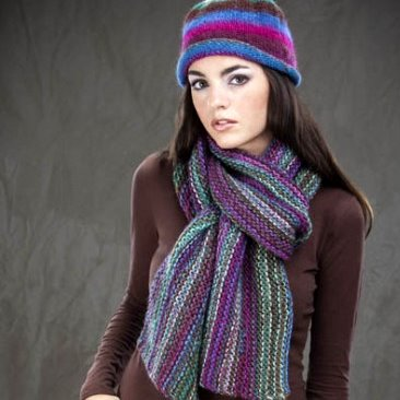 Bohemian Hat and Scarf Free Knitting Pattern