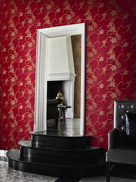 Papel pintado papel pintado caravaggio for Papel pintado rojo