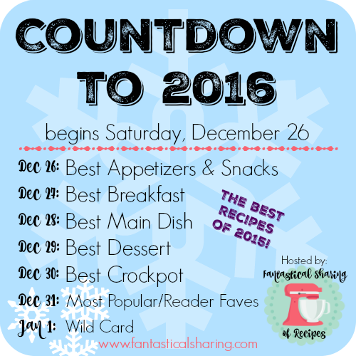 The Countdown to 2016 begins December 26 - if you have a food blog, feel free to join in! #Countdownto2016 #best