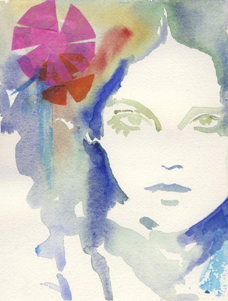 cate parr aquarelas pinturas mulheres