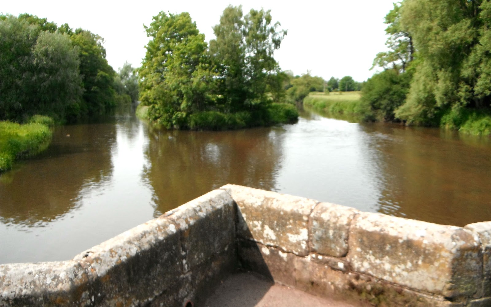 View from Essex Bridge toward the River Trent and the River Sow