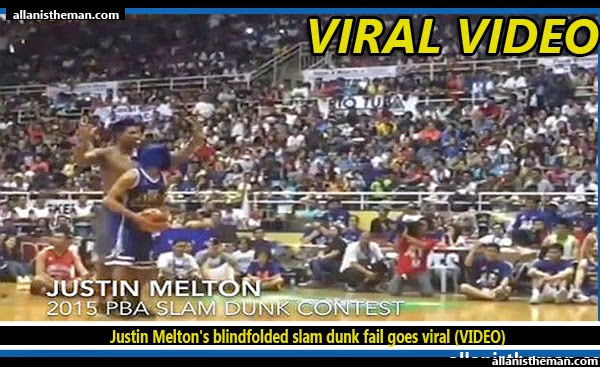 Justin Melton's blindfolded slam dunk fail goes viral (VIDEO)