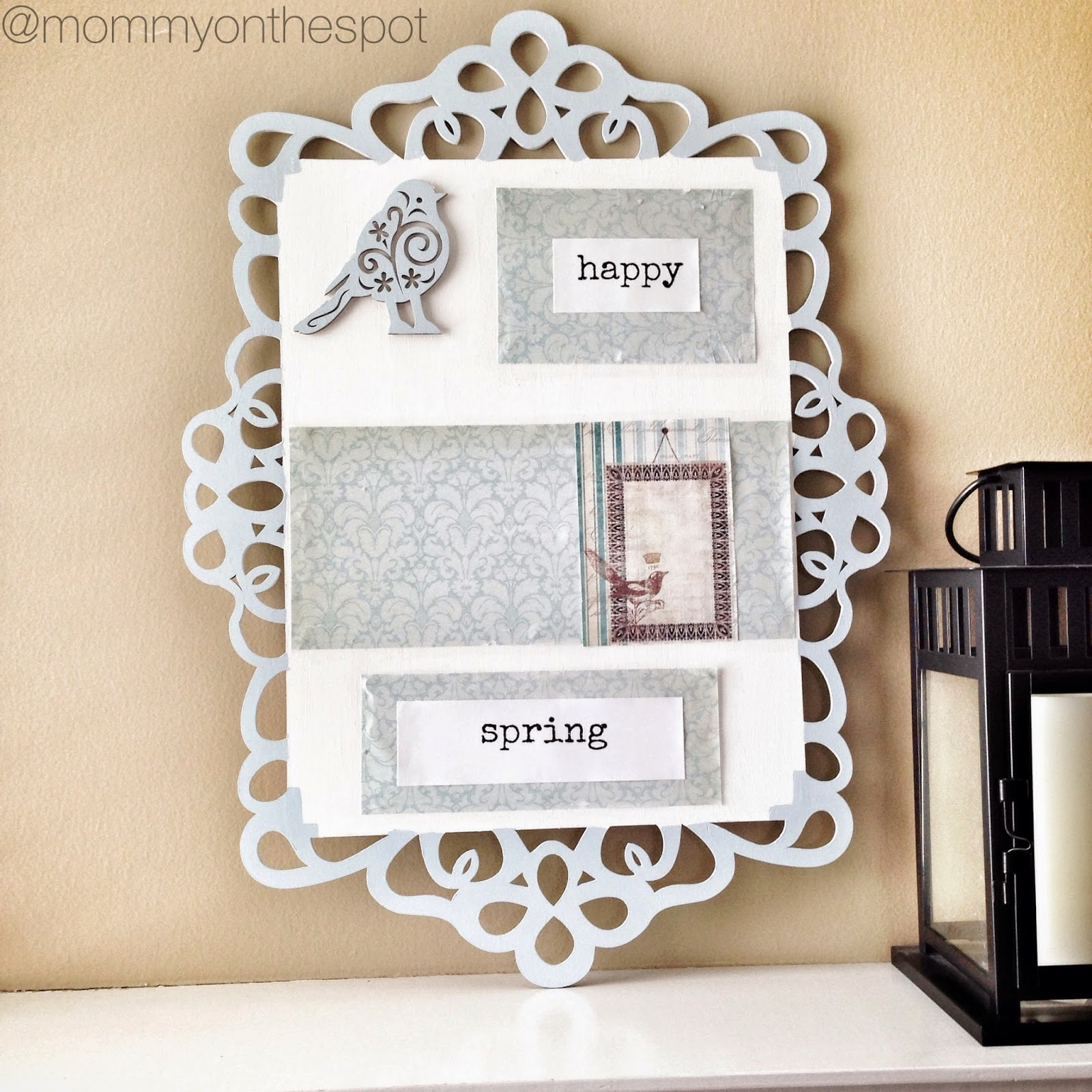 Erin Janda Rawlings Mommy on the Spot Art Therapy Spring Laser Wood Craft with Chalk Paint