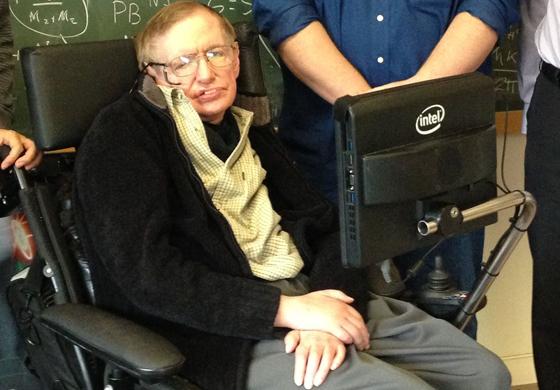 Stephen Hawking (Photo by Intel Free Press)