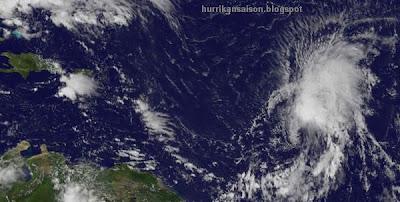 Ophelia, Satellitenbild Satellitenbilder, Verlauf, Zugbahn, Vorhersage Forecast Prognose, Dominikanische Republik, Punta Cana, September, aktuell, 2011, Hurrikansaison 2011,