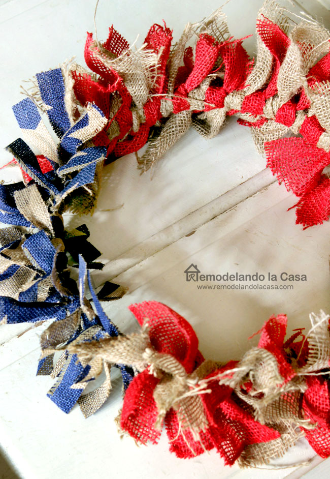 burlap ribbon wreath