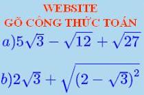 WEB GÕ CÔNG THỨC