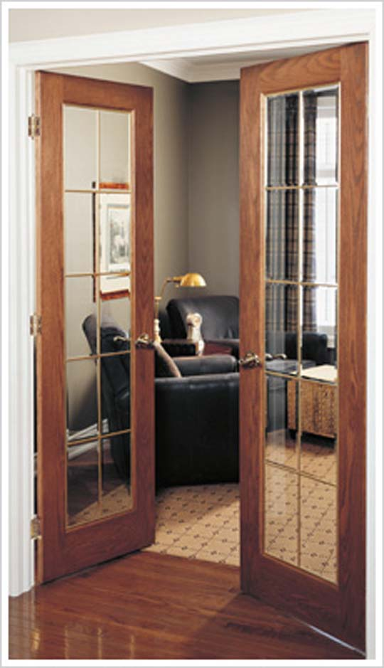 New masonite glass interior doors for Interior double doors