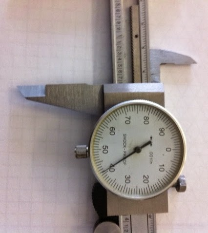 how to read a dial caliper in thousands